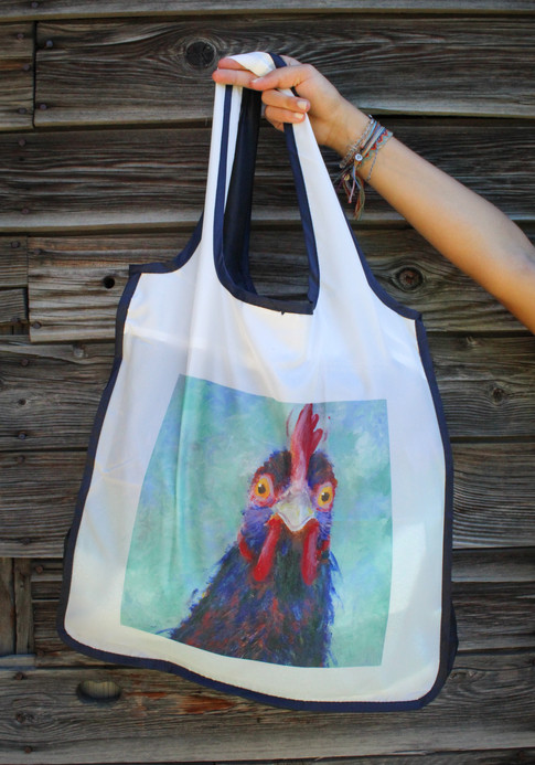 Chicken in the Headlights Reusable Shopping Bag