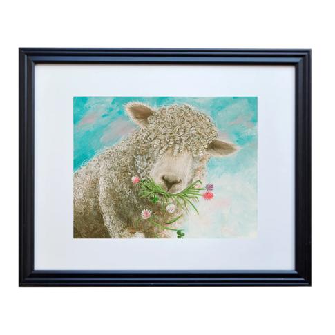 Sheep Poster Print Framed
