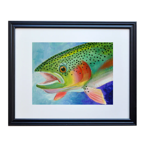Rainbow Trout Poster Print Framed
