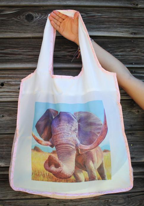 Elephant Reusable Shopping Bag