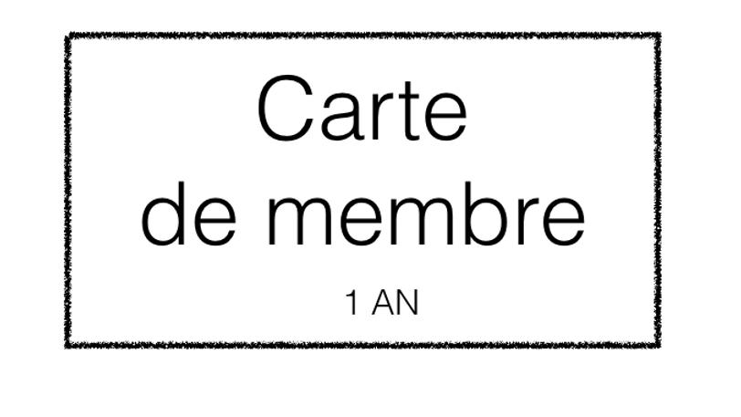 Carte de membre 2017
