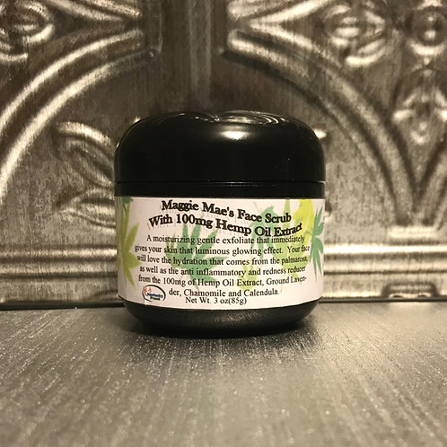 Maggie Mae's Naturals  Face Scrub with 100mg Hemp Oil Extract