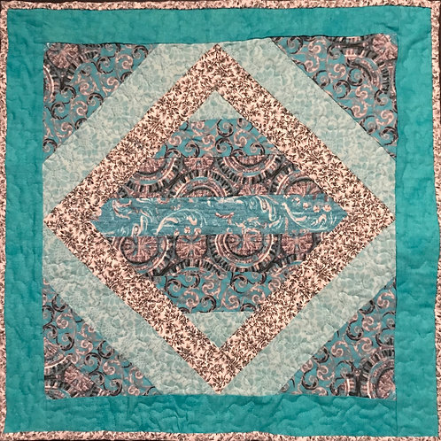 Teal and Gray Wallhanging