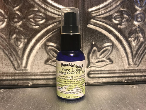 Face Lotion with Hemp Oil Extract
