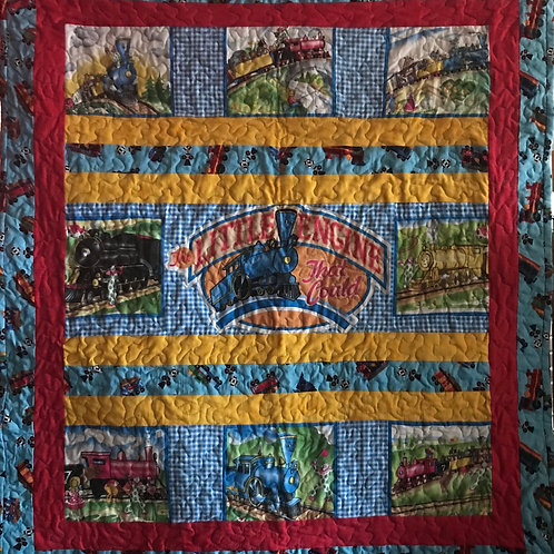 The Little Engine that Could Crib Quilt