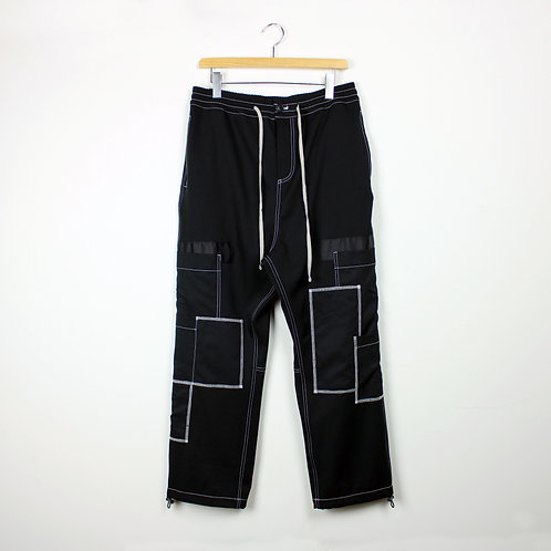 130752(20AW-117) PATCHWORK WIDE PANT