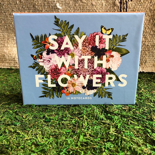 Say it with Flowers Notecard Set