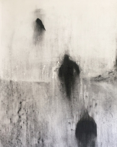 SNEEU GEDAGTES 2017 Charcoal on cotton paper