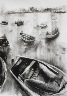 A MEMORY FROM MALAWI 2020 Charcoal on paper