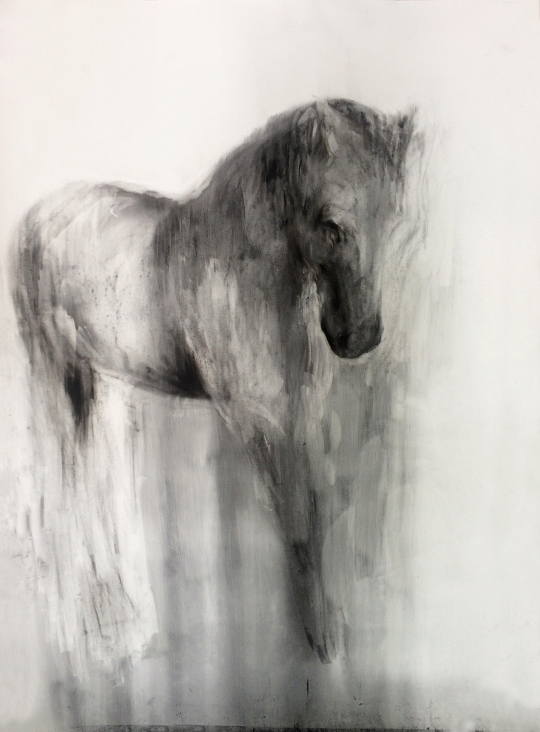 ALWAYS GREY 2016 Charcoal on paper