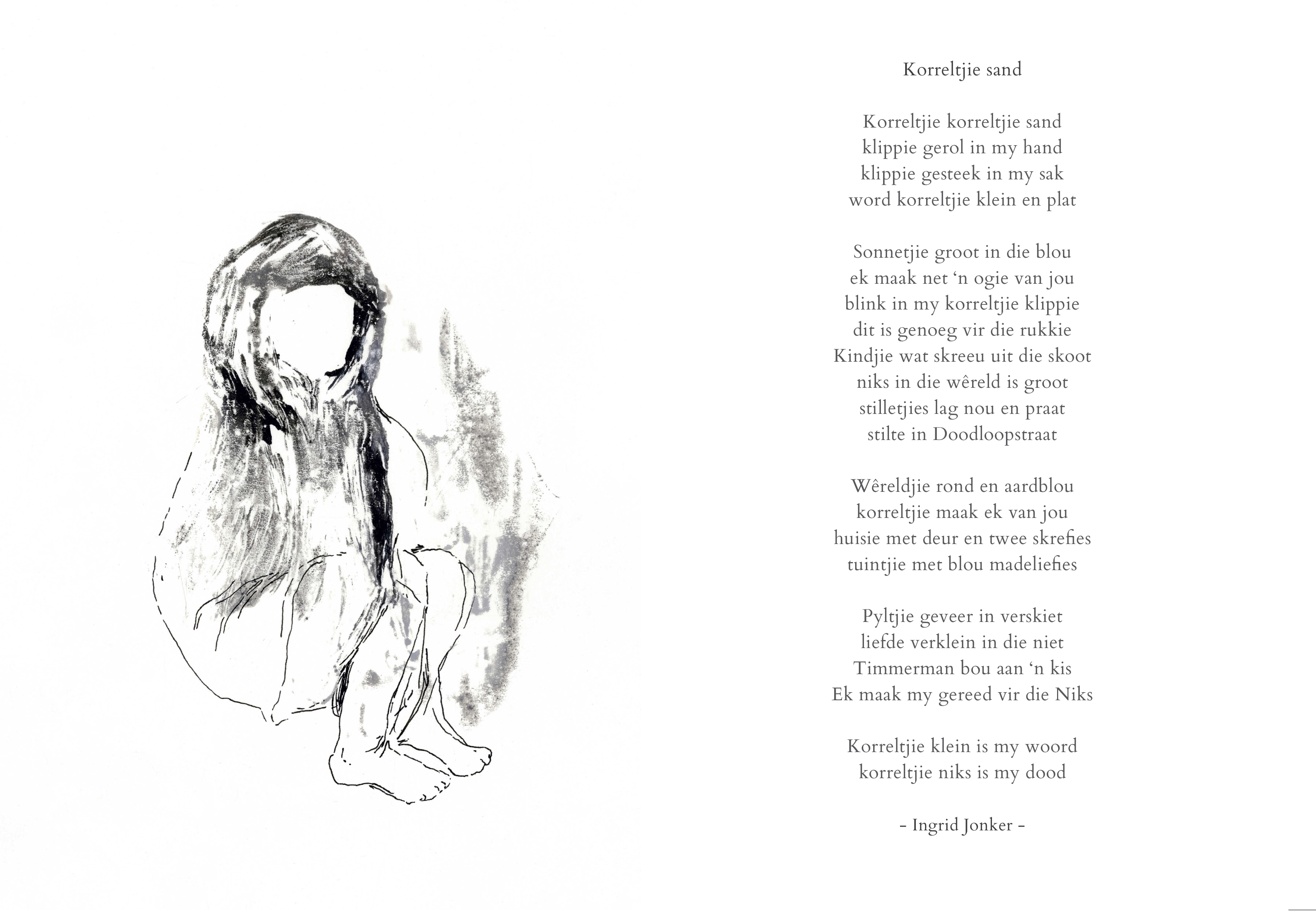 Korreltjie sand_Monoprint and ink on paper