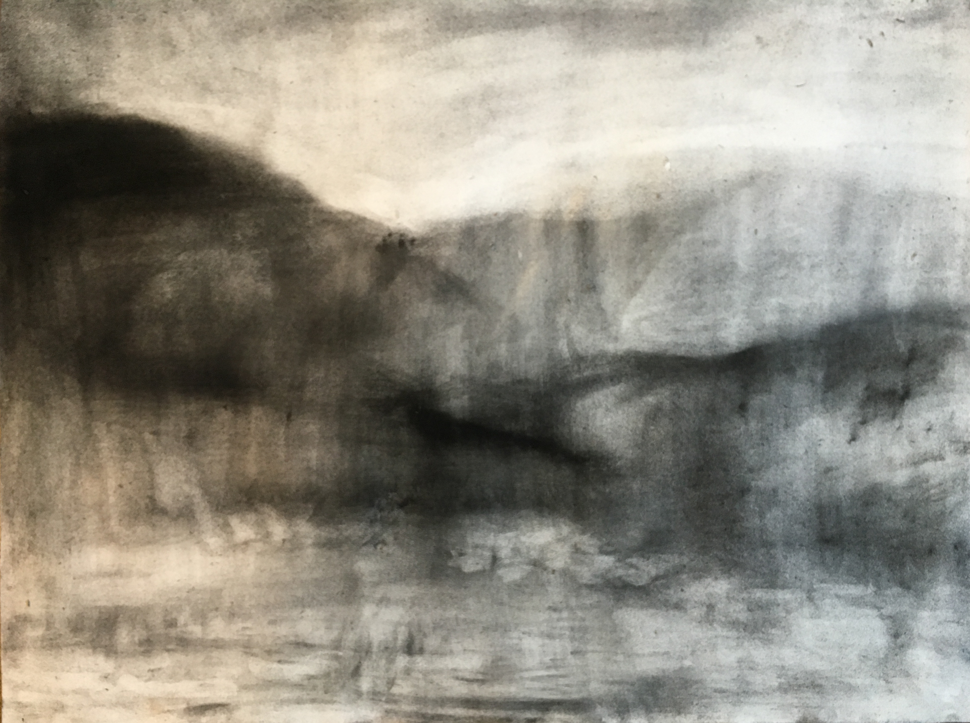 VALLEI 2019 Charcoal on cotton paper 50 x 64cm