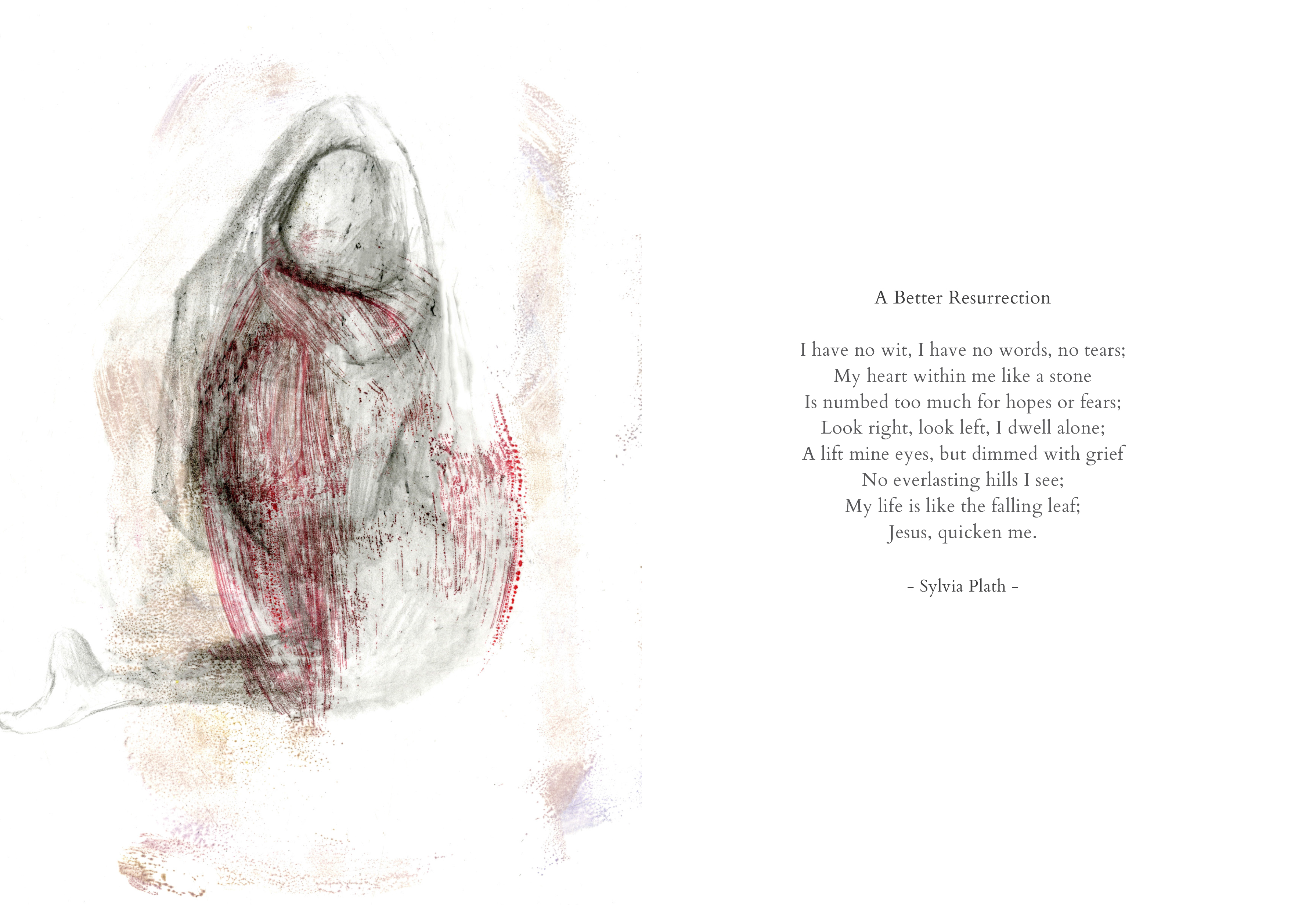 A better resurrection_monoprint and graphite on paper