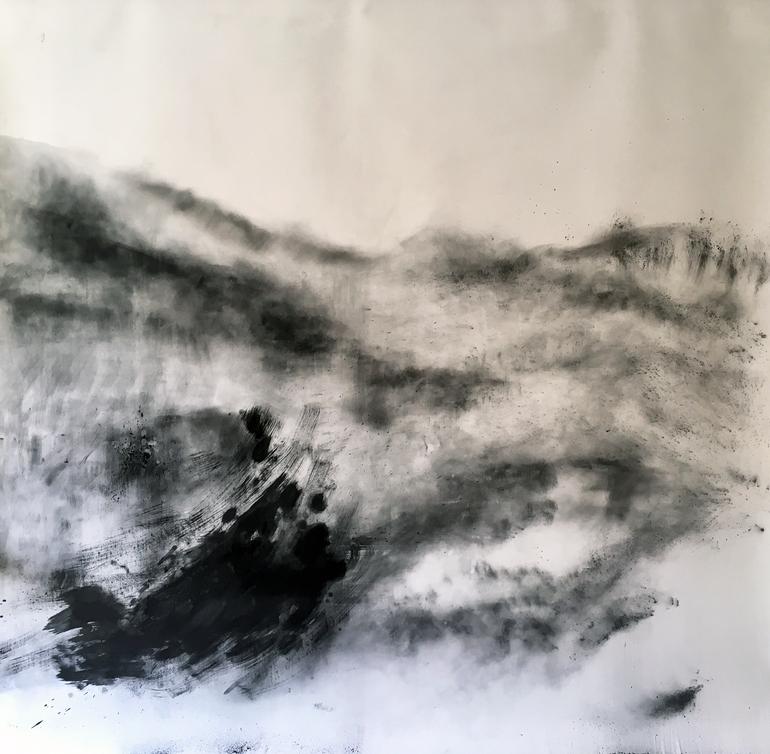 NA DIE VLAMME  2019 Charcoal on paper 131 x 151cm
