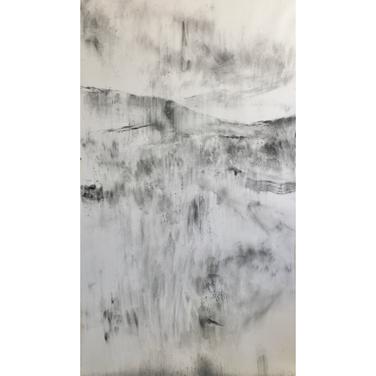 VOEL SOOS DIE KAROO 2020 Charcoal on paper 152 x 90cm