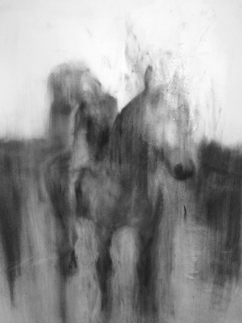 GISTER 2016 Charcoal on cotton paper 125 x 100cm
