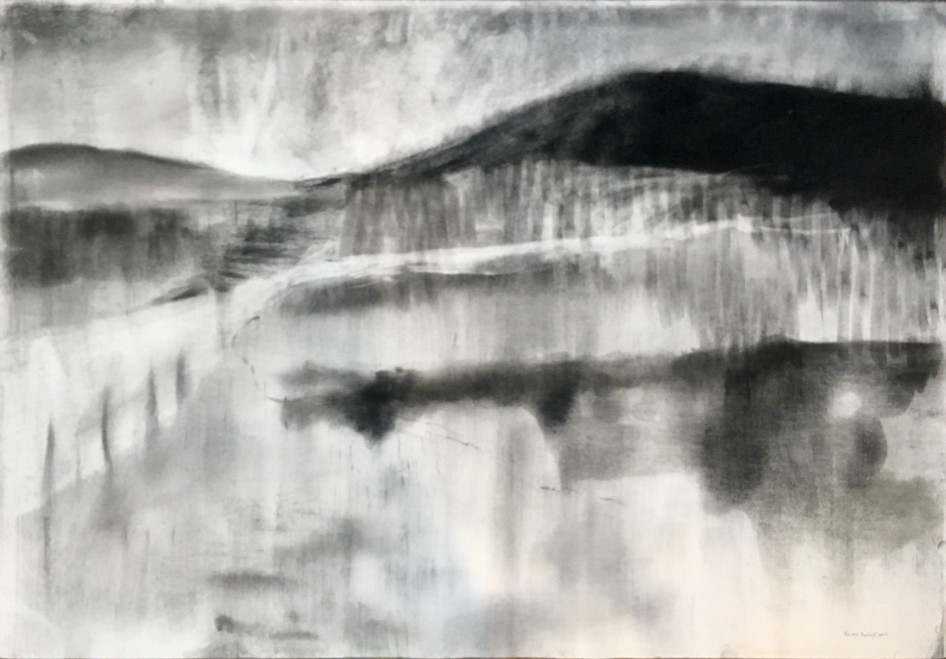 WEERKAATSING 2019 Charcoal on cotton paper 69 x 98cm