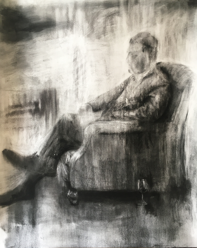 AFTERTHOUGHT 2018 Charcoal on cotton paper 124 x 101cm