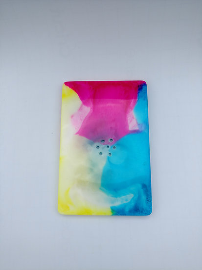 "Resin Soap Dish ""Color Storm"""