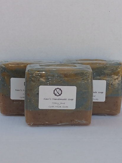 Mary Jane goat milk herbal soap- rainforest scented