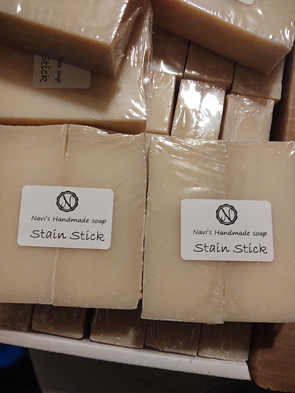 Stain sticks and brush cleaning bars
