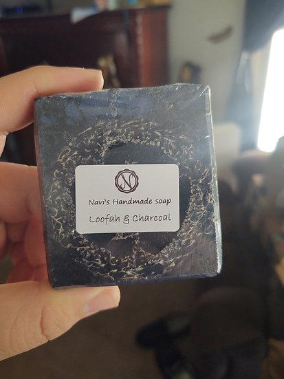 Loofah and charcoal
