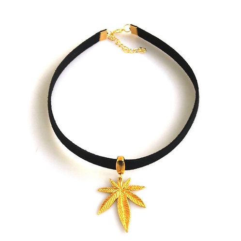 Gold Leaf Goddess Choker