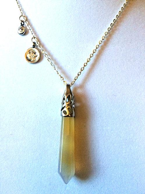 Citrine Obelisk Necklace