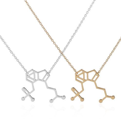 Petite Psilocybin Molecule Necklace