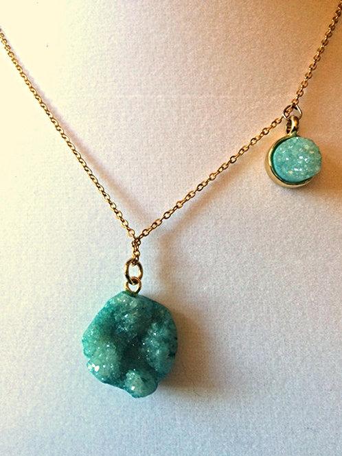 Teal Quartz Necklace