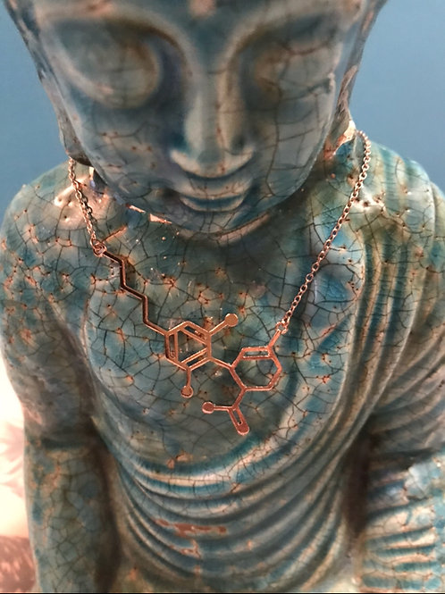 Exclusive Rose Gold CBD Molecule necklace from-Koko & Kai🌴