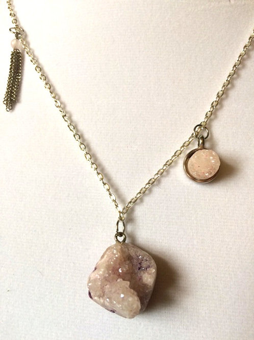 Quartz & Amethyst Necklace
