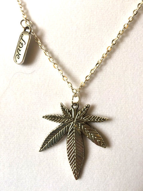 Cannabis Leaf SILVER Custom