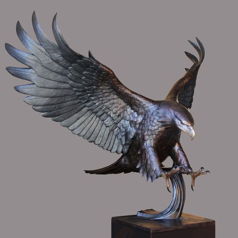 Vincentaa Bronze Eagle Statue 9.jpg