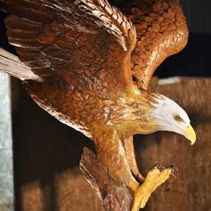 Vincentaa Bronze Eagle Statue.JPG