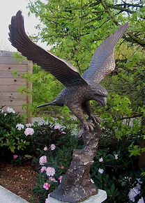 BI-4-Fine-Cast-Bronze-Sculpture-Eagle-Fl