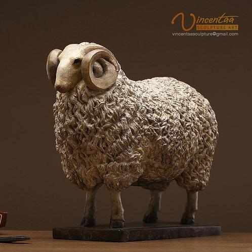 Bronze Sheep Art Sculpture