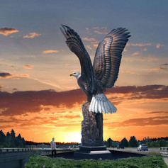 Vincentaa Bronze Eagle Statue 14.jpg
