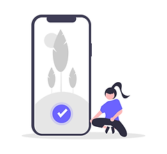 Illustration of someone using their smartphone