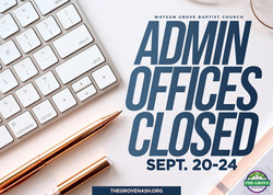 Admin Closed SEPT2021