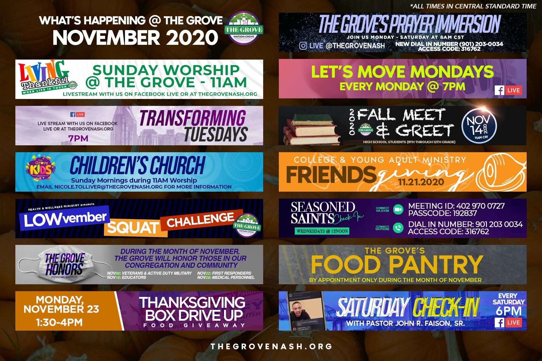 NovemberSchedule
