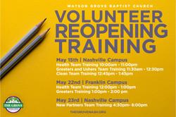 Volunteer Reopening