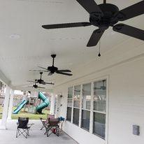 Patio Cover,  Concrete, Outdoor design, Ceilings Fan