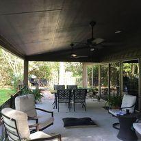 Patio Cover,  Concrete, Outdoor deside, Ceilings Fan