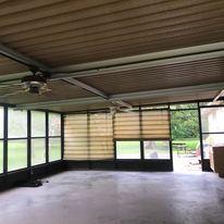 Screen room,  Concrete, Outdoor design, Ceilings Fan