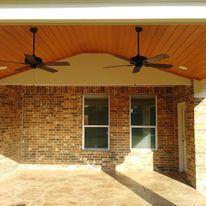 Patio Cover,  Concrete, Outdoor design, Ceilings Fans, Outdoor Kitchen