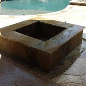 Fire pit, stone, concrete, masonry
