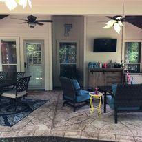 Patio Cover,  Concrete, Outdoor Kitchen design, Ceilings Fan