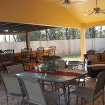 Patio Cover, Concrete stamped and stained, & Outdoor Kitchens