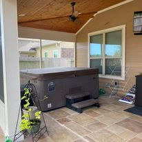 Patio Cover, concrete, masonry, stamped and stained concrete